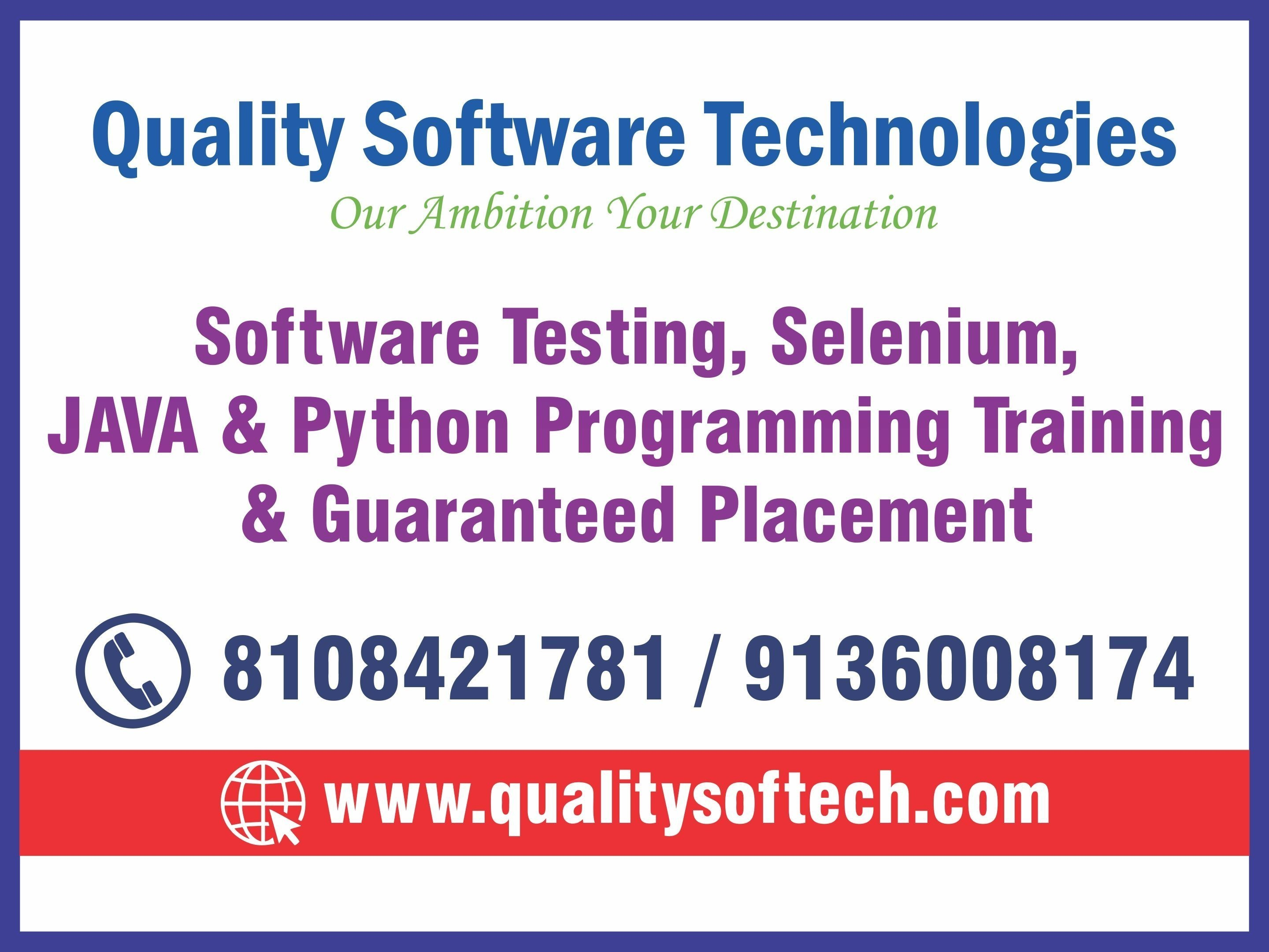 BEST PYTHON COURSE JAVA TRAINING INSTITUTE SOFTWARE TESTING COURSE